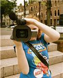 Marijke met camera